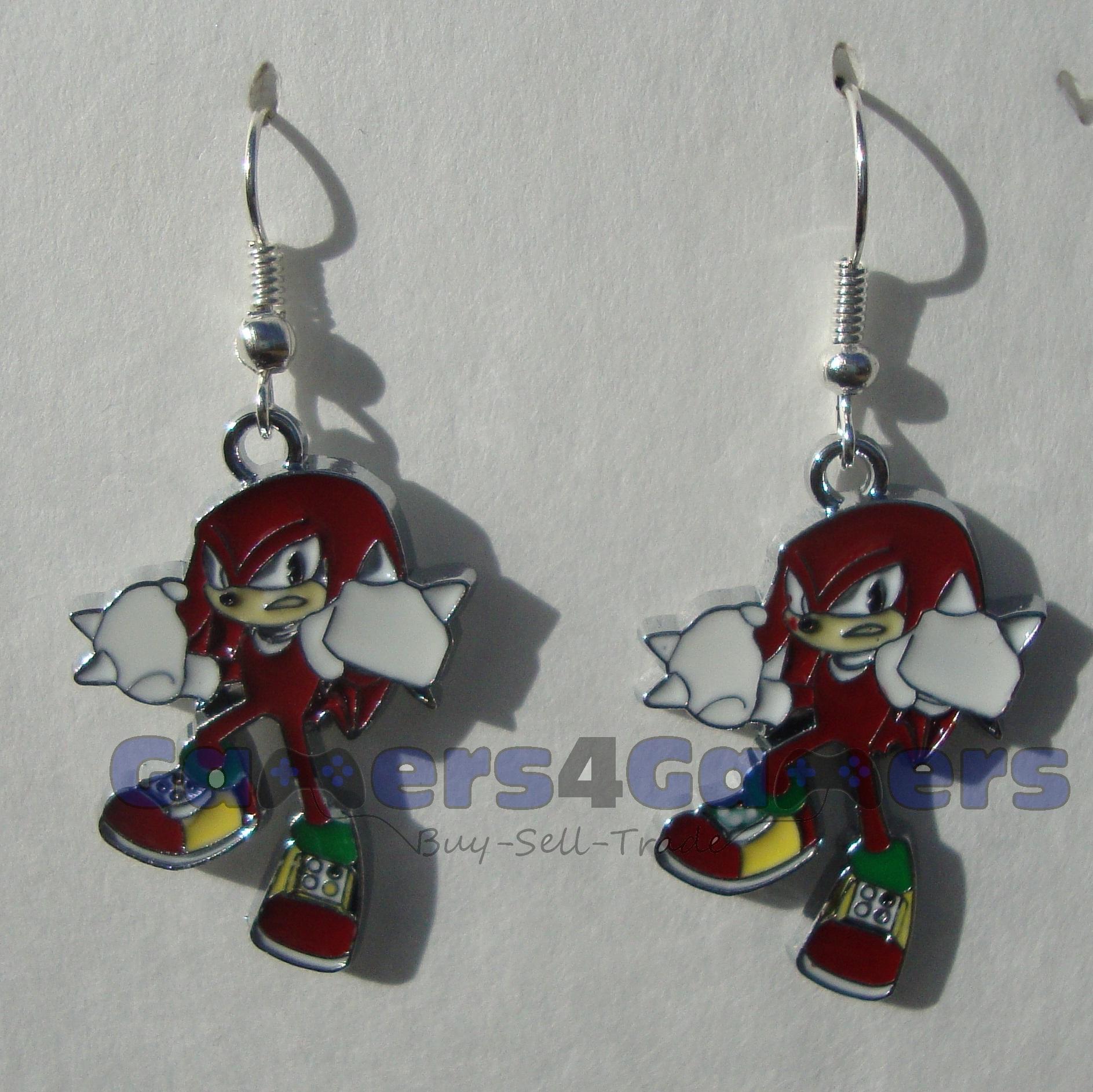 Sonic The Hedgehog Knuckles Earrings